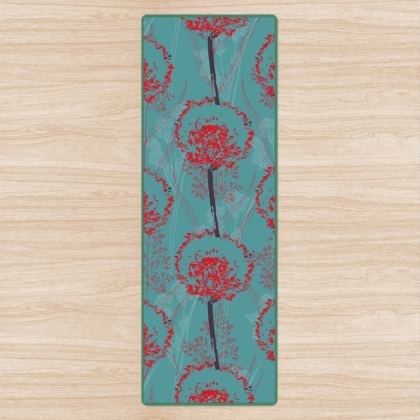 Dandelion Luxury Collection (TEAL) - Yoga Mat