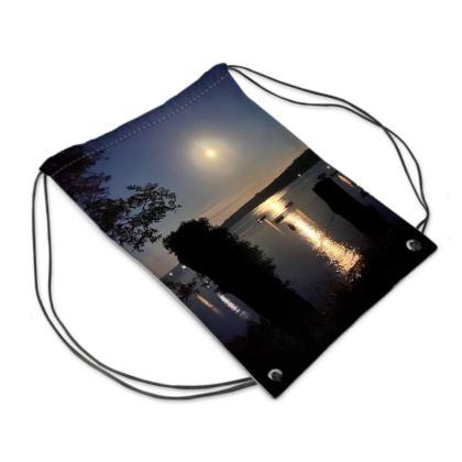 August full moon on the Helford Swim bag