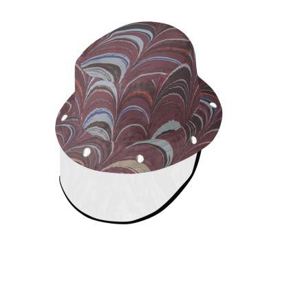Bucket Hat With Visor - Around Ex Libris Remix (1800 -1950)