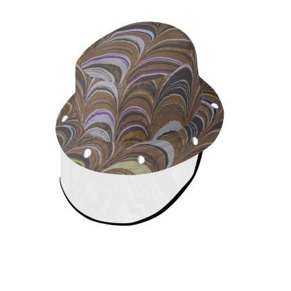 Bucket Hat With Visor - Around Ex Libris Brown Remix (1800 -1950)