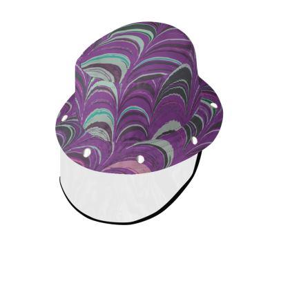 Bucket Hat With Visor - Around Ex Libris Pink Remix (1800 -1950)