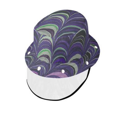 Bucket Hat With Visor - Around Ex Libris Purple Remix (1800 -1950)