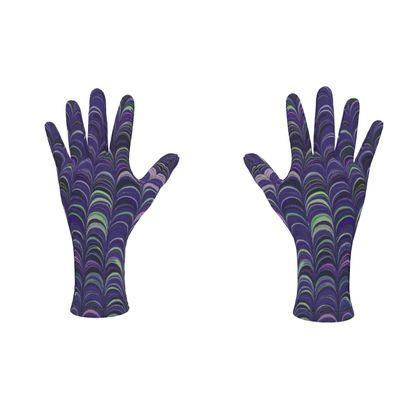 Fleece Gloves - Around Ex Libris Purple Remix (1800 -1950)