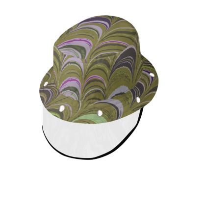 Bucket Hat With Visor - Around Ex Libris Yellow Remix (1800 -1950)