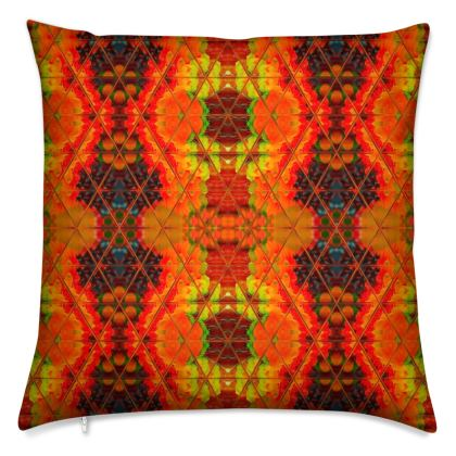Rustic Orange Feather Filled Cushion