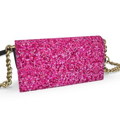 Oana Evening Bag- Emmeline Anne Pink Sparkle Effect