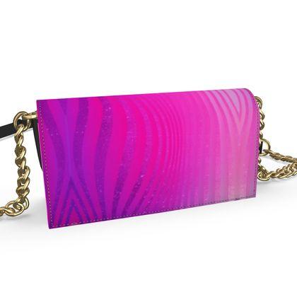 Oana Evening Bag- Emmeline Anne Glamorous Stripes Pink