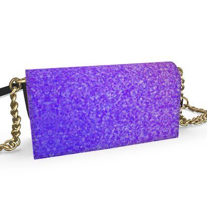 Oana Evening Bag- Emmeline Anne Purple Sparkle Effect
