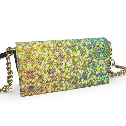 Oana Evening Bag- Emmeline Anne Gold/Green Sparkle Effect