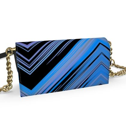 Oana Evening Bag- Cool Blue and Black
