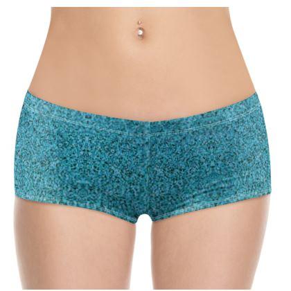 Hot Pants- Emmeline Anne Teal Sparkle Effect