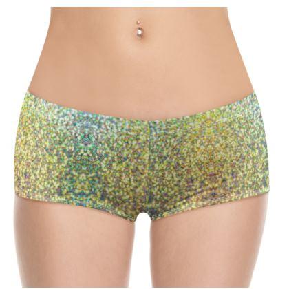 Hot Pants- Emmeline Anne Gold/Green Sparkle Effect
