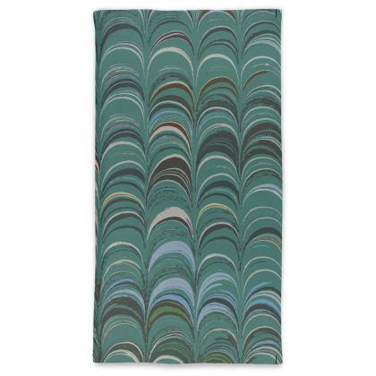 Neck Tube Scarf - Around Ex Libris Jade Remix (1800 -1950)