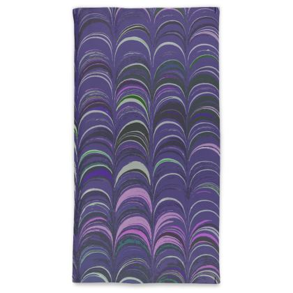 Neck Tube Scarf - Around Ex Libris Purple Remix (1800 -1950)
