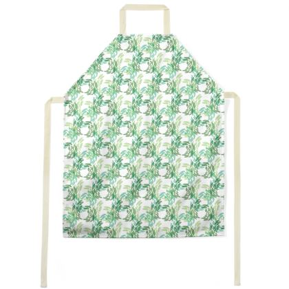 Abstract Spring Green Butterflies Pattern Aprons