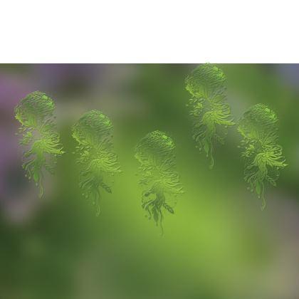 Luggage Strap - Bagageband - Green Ink Flower Green