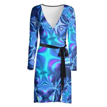Wrap Dress, Turquoise Reflections