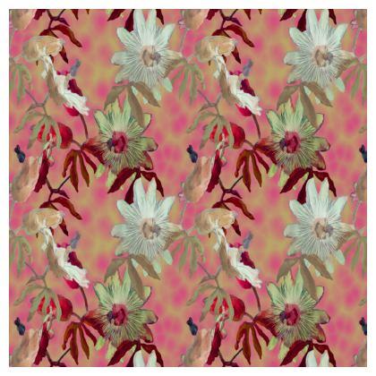 Serving Platter Dusky Pink, White   Passionflower   Alto