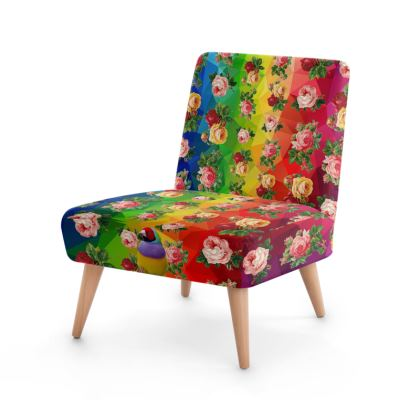 Rainbow Roses Occasional Chair