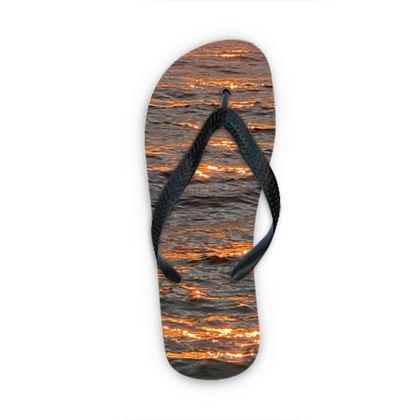 Flip flops - Sunrise on the Sea