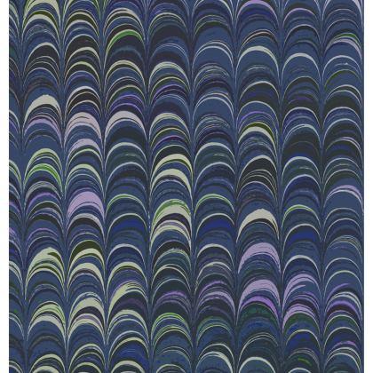 Folding Stool Chair - Around Ex Libris Blue Remix (1800 -1950)