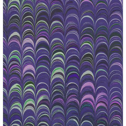 Folding Stool Chair - Around Ex Libris Purple Remix (1800 -1950)