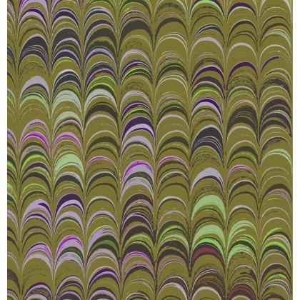 Folding Stool Chair - Around Ex Libris Yellow Remix (1800 -1950)