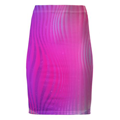 Pencil Skirt- Emmeline Anne Glamorous Stripes Pink