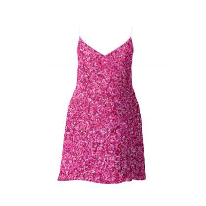 Slip Dress- Emmeline Anne Pink Sparkle Effect