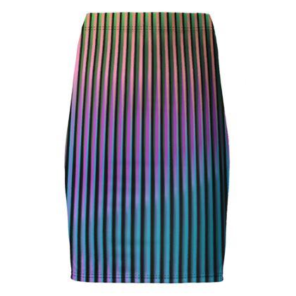 Pencil Skirt- Emmeline Anne Ombré Stripes