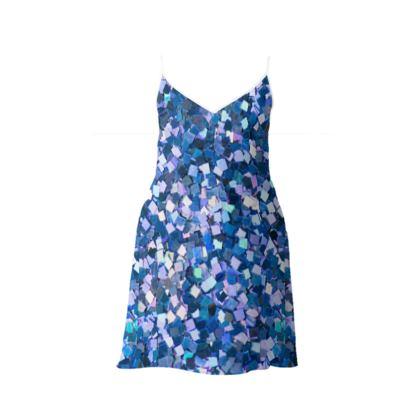 Slip Dress- Emmeline Anne Precious Stones Print