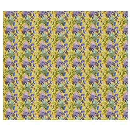 Roller Blinds Yellow, Mauve Floral [126 cm x 110 cm]  Passionflower   Radiance