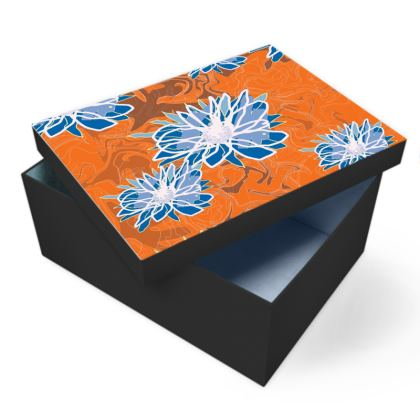 Daisy Luxury Collection (Blue & Tangerine) - Photo Box
