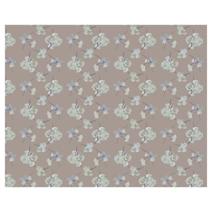 Roller Blinds Brown, Floral  [110 cm x 137 cm shown]  My Sweet Pea   Latte