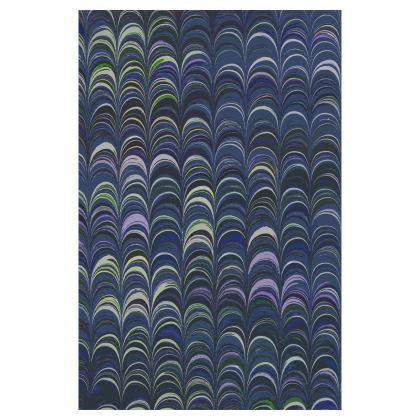 Glasses Case Pouch - Around Ex Libris Blue Remix (1800 -1950)