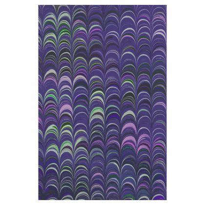 Glasses Case Pouch - Around Ex Libris Purple Remix (1800 -1950)
