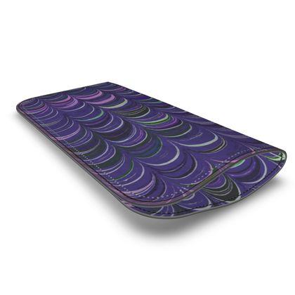 Leather Glasses Case - Around Ex Libris Purple Remix (1800 -1950)