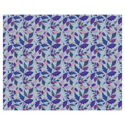 Roller Blinds Blue Nature [110 cm x 137 cm]   Diamond Leaves   Lagoon