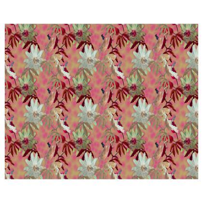Roller Blinds Dusky Pink, Floral  [110 cm x 137 cm]   Passionflower   Alto