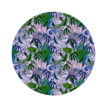 Serving Platter Mauve, Green, Floral  Passionflower  Tuscany