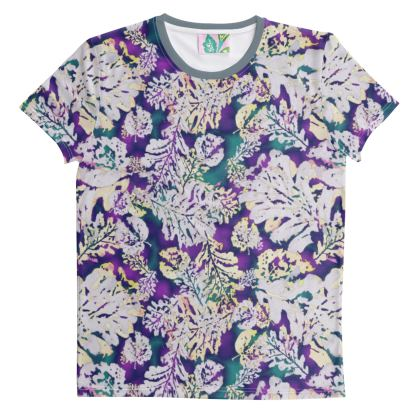 Cut And Sew All Over Print T Shirt XS Shown   Oaks    Theatrical