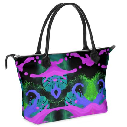 Zip Top Handbag- Emmeline Anne Exotic Bright
