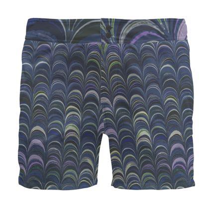 Board Shorts - Around Ex Libris Blue Remix (1800 -1950)