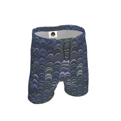Mens Sweat Shorts - Around Ex Libris Blue Remix (1800 -1950)
