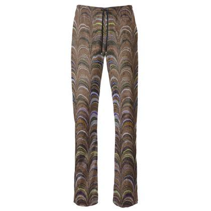 Womens Trousers - Around Ex Libris Brown Remix (1800 -1950)