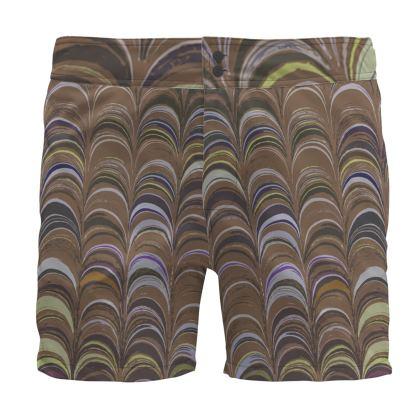 Board Shorts - Around Ex Libris Brown Remix (1800 -1950)