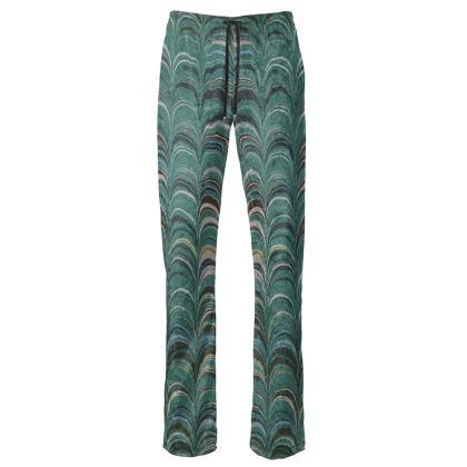 Womens Trousers - Around Ex Libris Jade Remix (1800 -1950)