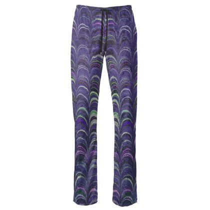 Womens Trousers - Around Ex Libris Purple Remix (1800 -1950)