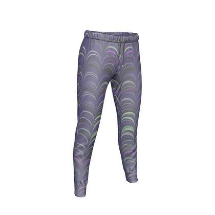 Womens Jogging Bottoms - Around Ex Libris Purple Remix (1800 -1950)