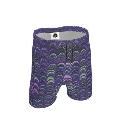 Mens Sweat Shorts - Around Ex Libris Purple Remix (1800 -1950)